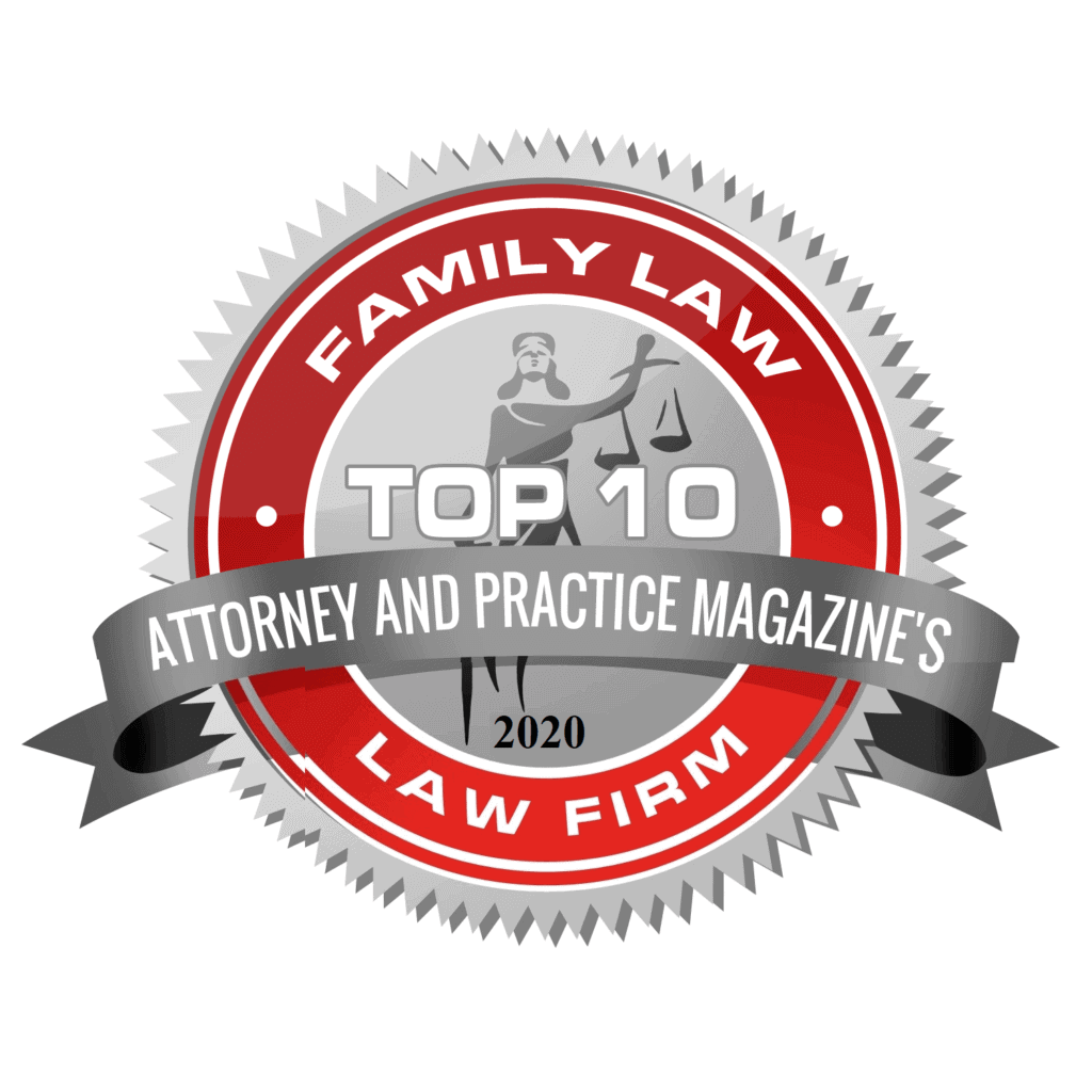 2020 top family law firm badge