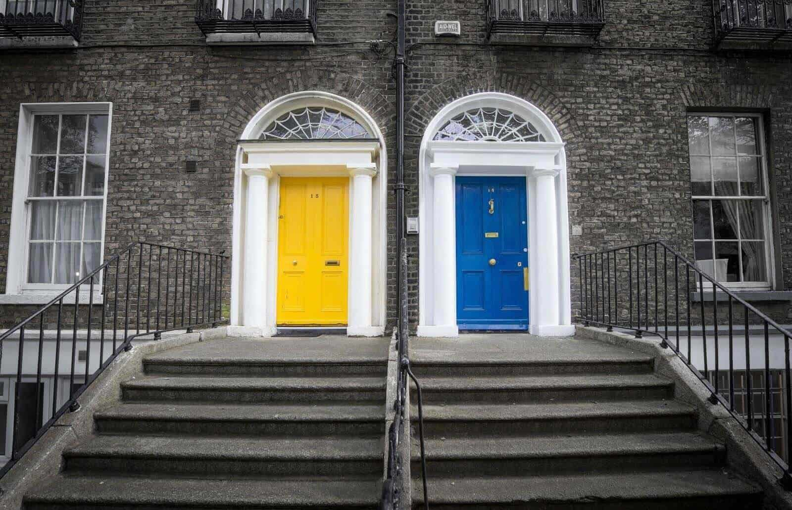 yellow door blue door choices options